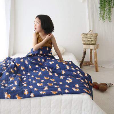 2020新款小清新ins纱布被 120x150cm 柴犬