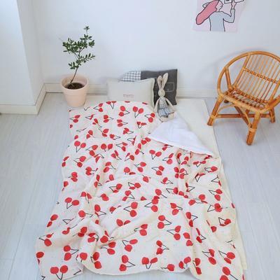 2020新款小清新ins纱布被 120x150cm 红樱桃