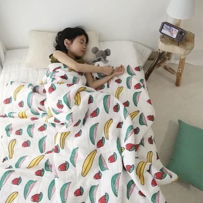 2020新款小清新ins纱布被 150x200cm 西瓜草莓