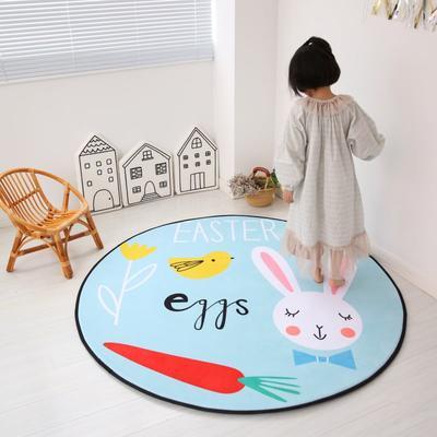 2020新款圆形慢回弹地垫 80cm 森林兔