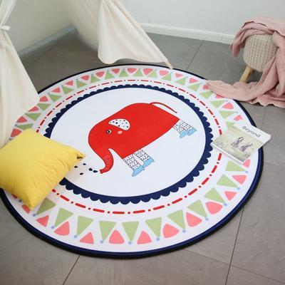 2020新款圆形慢回弹地垫 80cm 丝袜大象