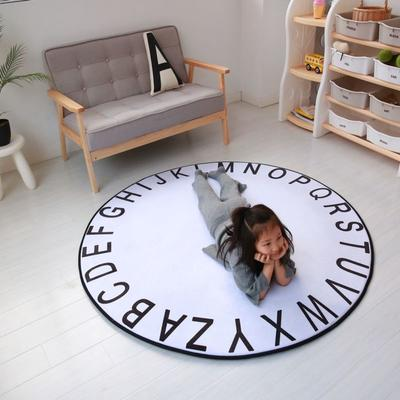 2020新款圆形慢回弹地垫 80cm 圆形白色字母