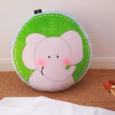 2020新款圆形抱枕 圆形抱枕直径:40cm 蜡笔大象
