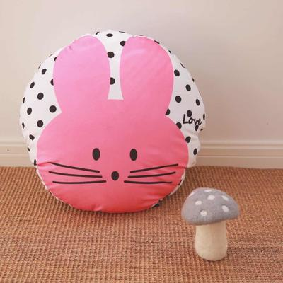 2020新款圆形抱枕 圆形抱枕直径:40cm 玫红小兔