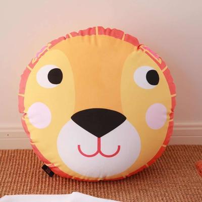 2020新款圆形抱枕 圆形抱枕直径:40cm 太阳狮