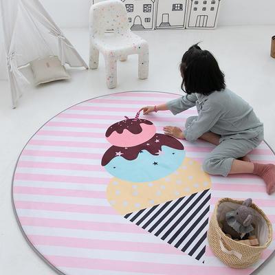 2020新款新款圆形慢回弹14色 80cm 粉色甜筒