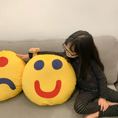 2020新款,新 snoopy和表情抱枕 圆形,直径50cm 好心情