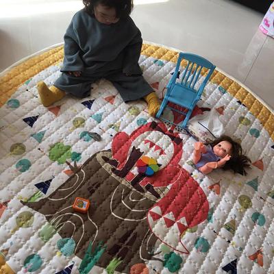 (总)飞达地垫 韩国儿童棉地垫常规厚度-圆形 直径1.5m(正负5cm公差) 圆形狐狸