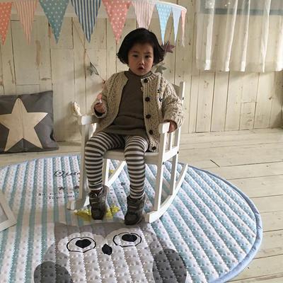 (总)飞达地垫 韩国儿童棉地垫常规厚度-圆形 直径1.5m(正负5cm公差) 圆形猫头鹰