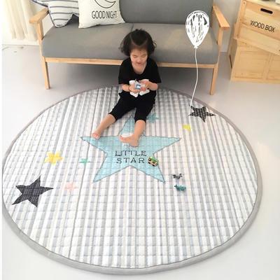 (总)飞达地垫 韩国儿童棉地垫常规厚度-圆形 直径1.5m(正负5cm公差) 圆形星星