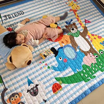 (总)飞达地垫 韩国儿童棉地垫常规厚度-长方形 1.5m*2.0m(正负5cm工差) 动物大家庭