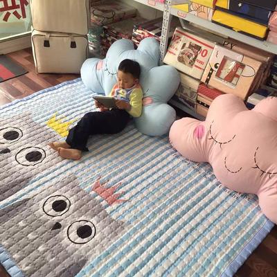 (总)飞达地垫 韩国儿童棉地垫常规厚度-长方形 1.5m*2.0m(正负5cm工差) 方猫头鹰