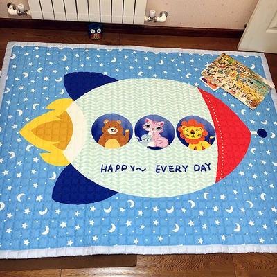 (总)飞达地垫 韩国儿童棉地垫常规厚度-长方形 1.5m*2.0m(正负5cm工差) 飞船