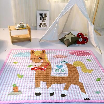 (总)飞达地垫 韩国儿童棉地垫常规厚度-长方形 1.5m*2.0m(正负5cm工差) 粉小马