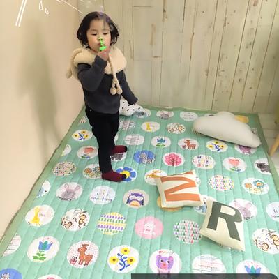 (总)飞达地垫 韩国儿童棉地垫常规厚度-长方形 1.5m*2.0m(正负5cm工差) 绿圈