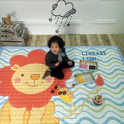 (总)飞达地垫 韩国儿童棉地垫常规厚度-长方形 1.5m*2.0m(正负5cm工差) 狮子