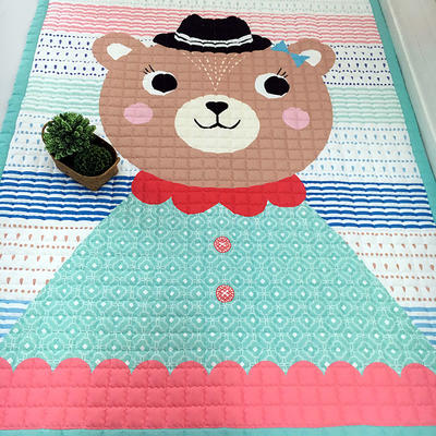 (总)飞达地垫 韩国儿童棉地垫常规厚度-长方形 1.5m*2.0m(正负5cm工差) 小熊