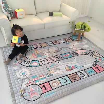 (总)飞达地垫 韩国儿童棉地垫常规厚度-长方形 1.5m*2.0m(正负5cm工差) 游戏垫