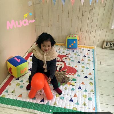 (总)飞达地垫 韩国儿童棉地垫常规厚度-长方形 1.5m*2.0m(正负5cm工差) 长狐狸