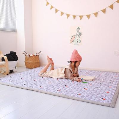 (总)飞达地垫 韩国儿童棉地垫常规厚度-长方形 1.5m*2.0m(正负5cm工差) 萝卜坑