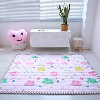 (总)飞达地垫 韩国儿童棉地垫常规厚度-长方形 1.5m*2.0m(正负5cm工差) 七彩云朵