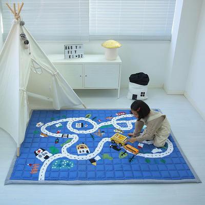 (总)飞达地垫 韩国儿童棉地垫常规厚度-长方形 1.5m*2.0m(正负5cm工差) 时光轨道