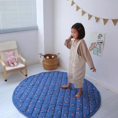 (总)飞达地垫 韩国儿童棉地垫常规厚度-圆形 直径1.5m(正负5cm公差) 圆形蓝底萝卜