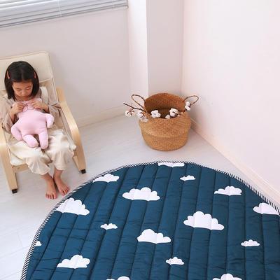 (总)飞达地垫 韩国儿童棉地垫常规厚度-圆形 直径1.5m(正负5cm公差) 圆形墨绿云朵