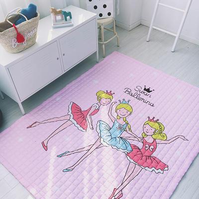 2020新款棉地垫-格子款 1.5m*2.0m 粉色芭蕾