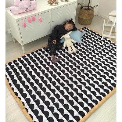 2020新款棉地垫-格子款 1.5m*2.0m 黑白配