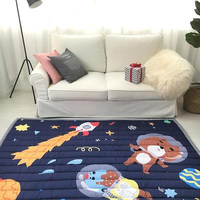 2020新款棉地垫-竖条款 140cm*200cm 太空熊