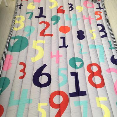 2020新款棉地垫-竖条款 140cm*200cm 学数字