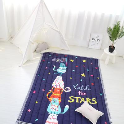 2020新款棉地垫-竖条款 140cm*200cm 摘星星的猫