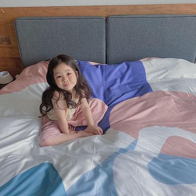 2020新款60长绒棉四件套套件 1.5m床单款四件套 柏林少女