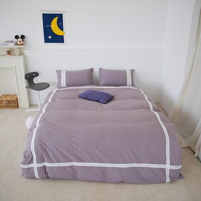 2021新款40支水洗棉四件套小世界系列—实拍图2 1.8m床单款四件套 芋泥紫
