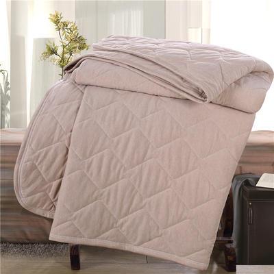 全棉彩棉针织绗缝夏被 彩棉填充 适合宝宝用的盖被 150x200cm 彩棉