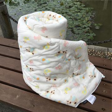 儿童双层纱布生态元绒棉花被
