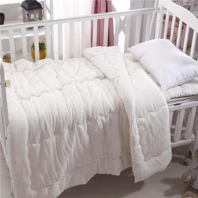 儿童纱布生态元绒棉花被 白