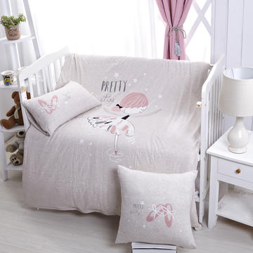 luck专版花型-针织棉芭蕾女孩婴童多件套 艾米 灰