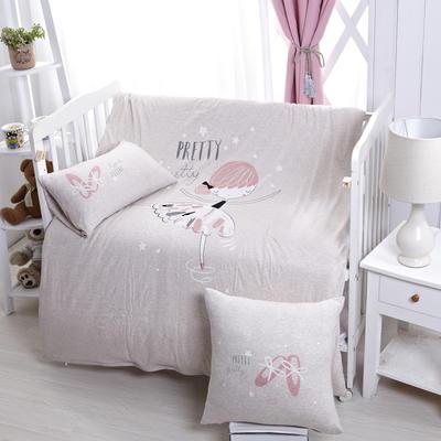 luck专版花型-针织棉芭蕾女孩婴童多件套 艾米 灰 均码 艾米 灰