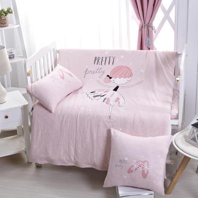 (总)luck专版花型-针织棉芭蕾女孩婴童多件套 均码 艾米 粉