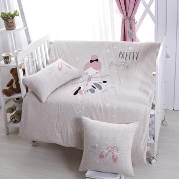 luck专版花型-针织棉芭蕾女孩婴童多件套 艾莉丝 灰