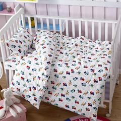 吉家 全棉加厚针织印花婴幼童床品套件 均码 工程车