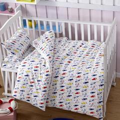 吉家 全棉加厚针织印花婴幼童床品套件 均码 小飞机