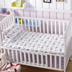 全棉加厚针织印花婴幼童床单 小飞机