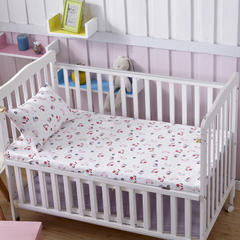 全棉加厚针织印花婴幼童床单 粉船