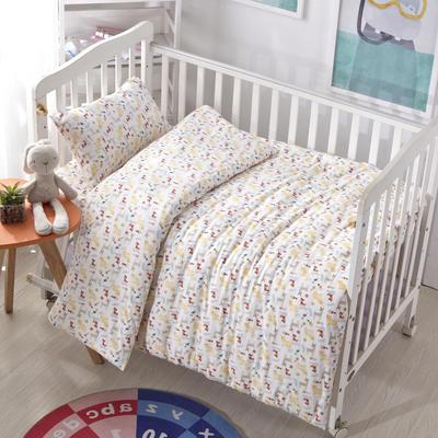 吉家 全棉加厚针织印花婴幼童床品套件 均码 狐狸的朋友