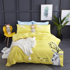 吉家专版花型 喷气丝光棉童趣系列 1.2m(4英尺)床 岁月静好