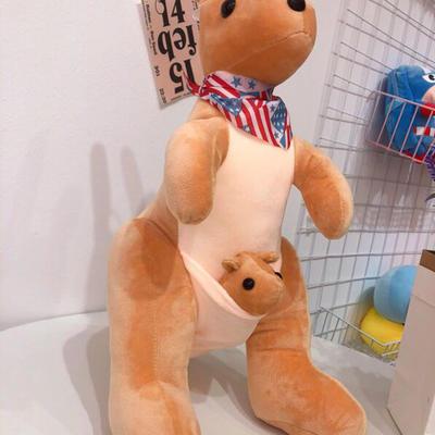2020新款抱枕中号系列/只 毛绒玩具抱枕靠枕 约40cm 袋鼠-浅咖40cm