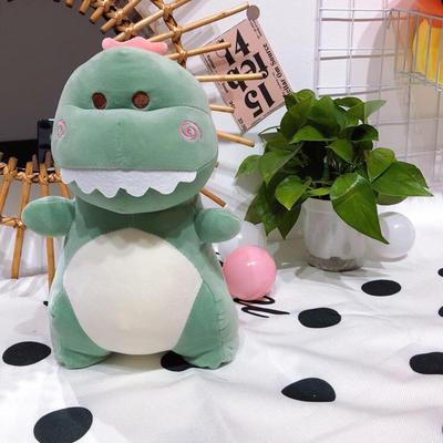 2020新款抱枕中号系列/只 毛绒玩具抱枕靠枕 约40cm 恐龙-绿40cm